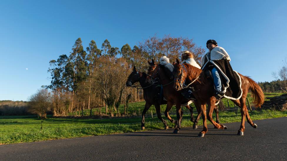 Los Reyes Magos de Oriente visitarán San Sadurniño en caballo. FOTO: César Galdo
