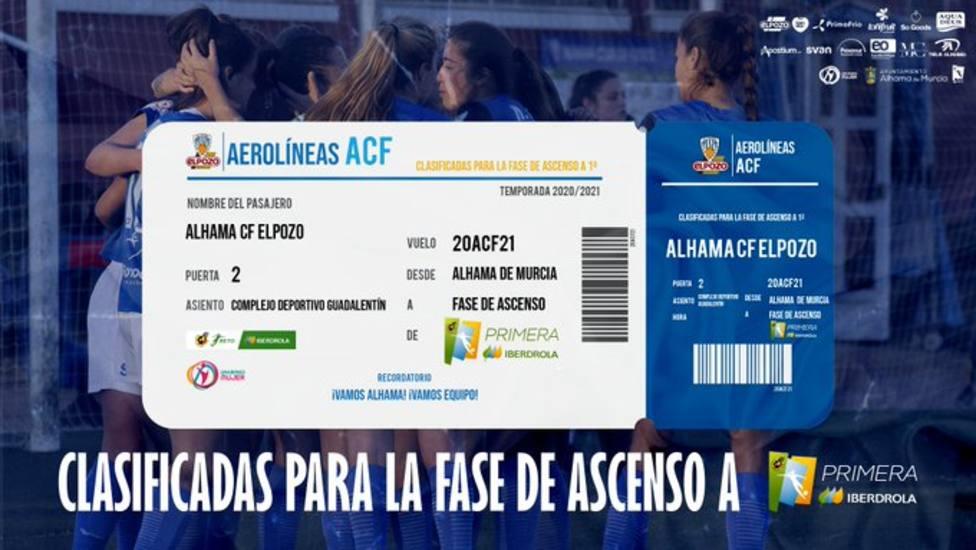 Alhama CF ElPozo peleará por el ascenso a la élite femenina