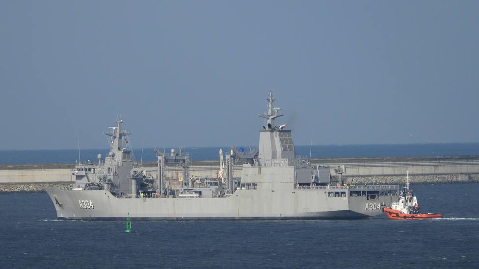 Foto de archivo de la salida a las pruebas de mar del buque AOR - FOTO: Jose R. Montero
