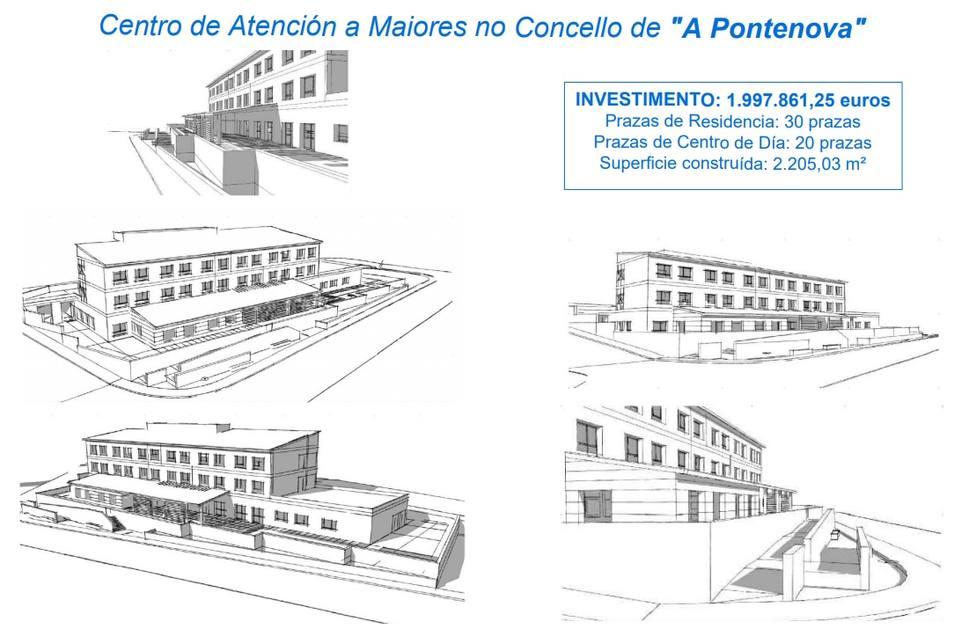 Proyecto del futuro centro de atención a mayores de A Pontenova