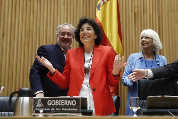 La ministra de Educación y Formación Profesional,Isabel Celaá