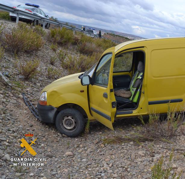 Sin carné y drogado, huye de forma temeraria con un vehículo robado y provoca un accidente
