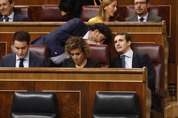 Casado pregunta a Pedro Sánchez en el Congreso si está de acuerdo consigo mismo en convocar elecciones si no hay PGE