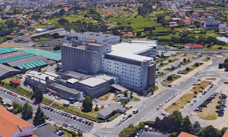 Vista aérea del Hospital Arquitecto Marcide