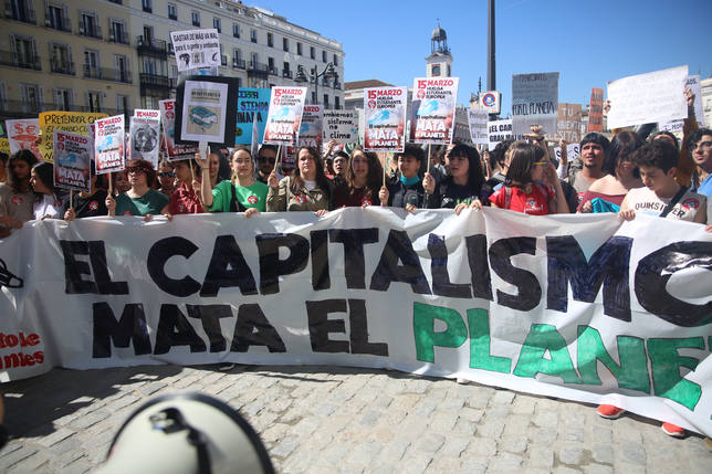 Fridays For Future se desmarca del discurso político del Sindicato de Estudiantes en la protesta de Madrid