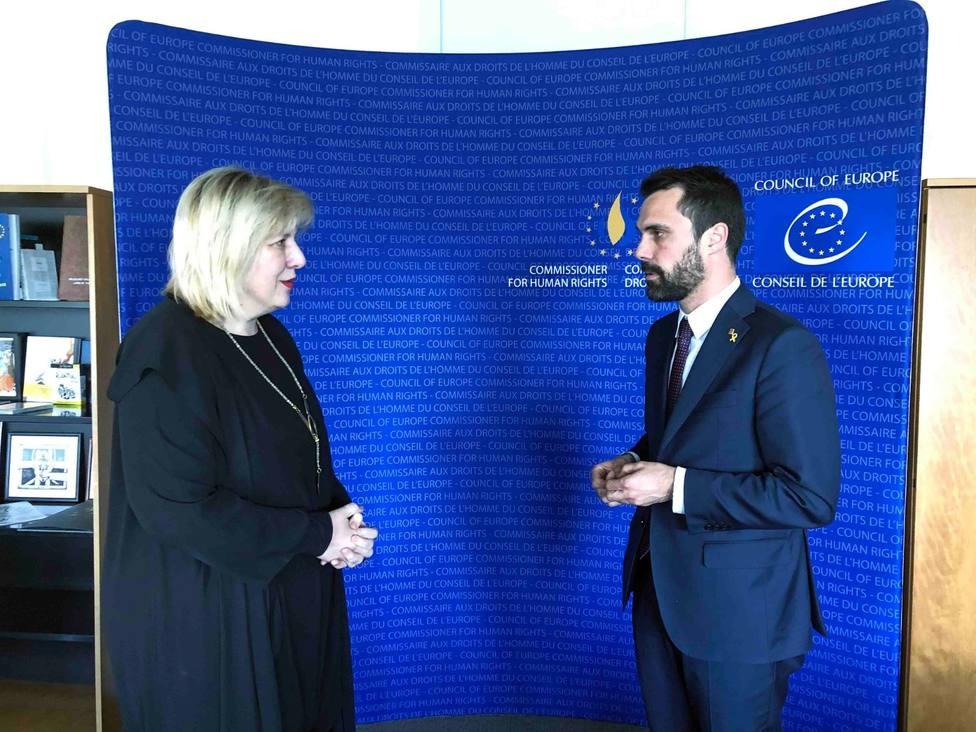 Torrent pide a la comisaria de Derechos Humanos del Consejo de Europa que visite a los presos