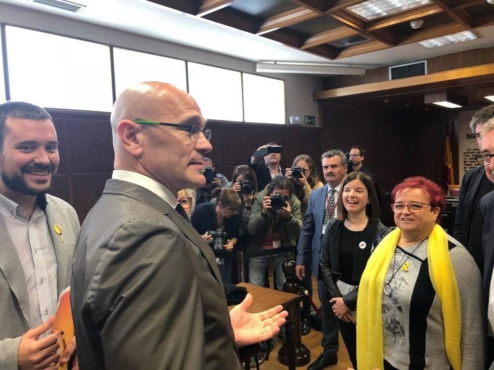 Romeva se encuentra desde las 8,30 horas en el Senado para participar a las 10 en la constitución de la Cámara