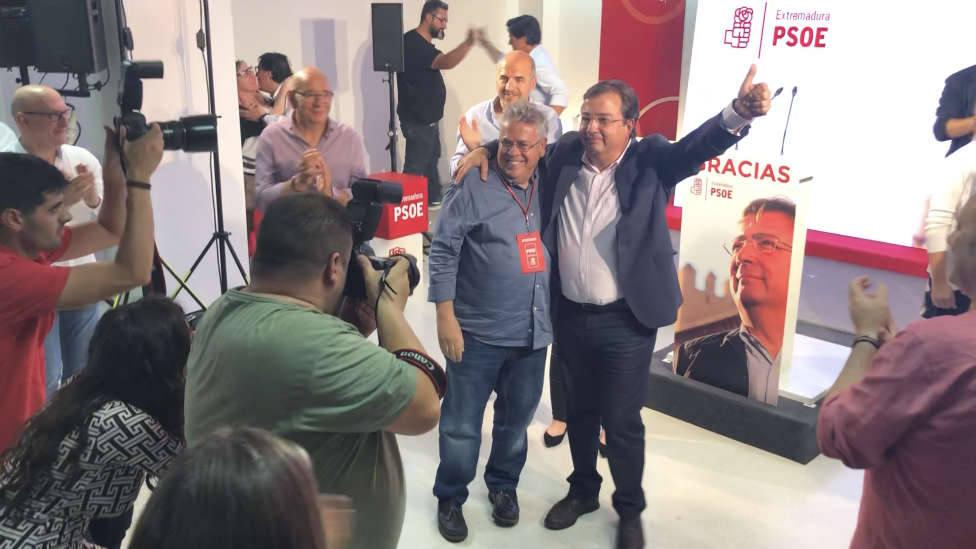Fernández Vara tras ganar las Elecciones Autonómicas del 26 de mayo de 2019. Foto: COPE