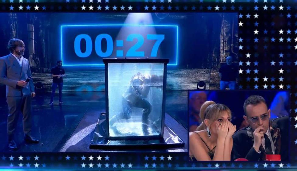 Un concursante de Got Talent roza la muerte en directo ante la atónita mirada de Risto, Edurne y Paz Padilla