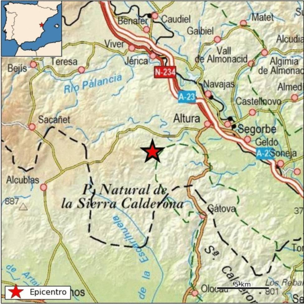 Terremoto con epicentro en Altura