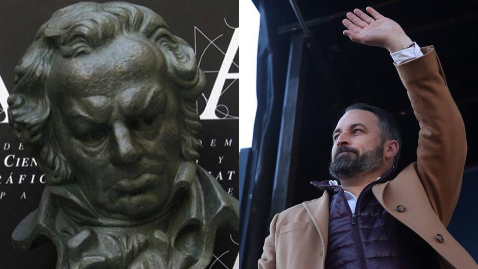 Santiago Abascal rechaza la invitación para acudir a los Goya