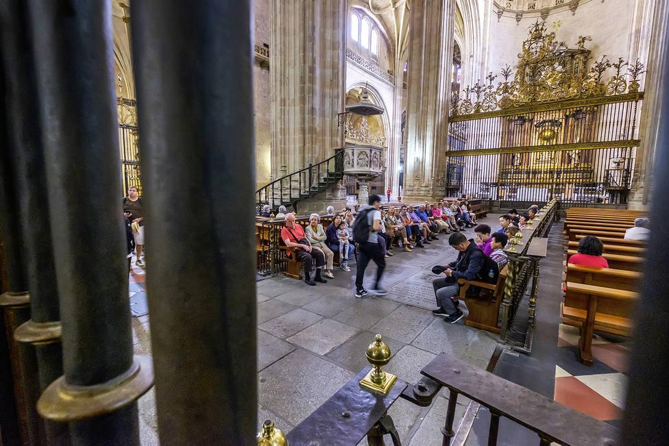 Turistas en la Catedral