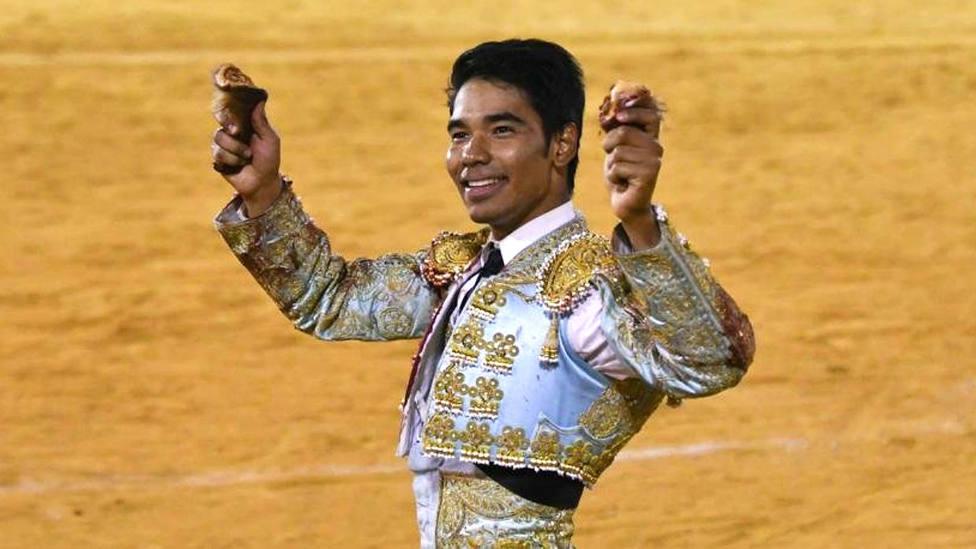Leandro Gutiérrez, en su debut con picadores en la plaza toledana de Añover de Tajo