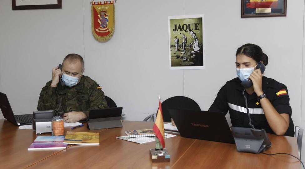 Rastreadores del ejército. Foto UME