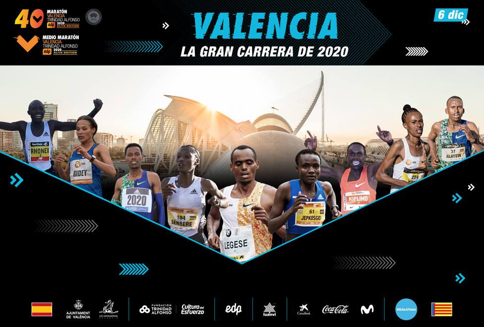 Los mejores atletas correrán el 6 de diciembre en València