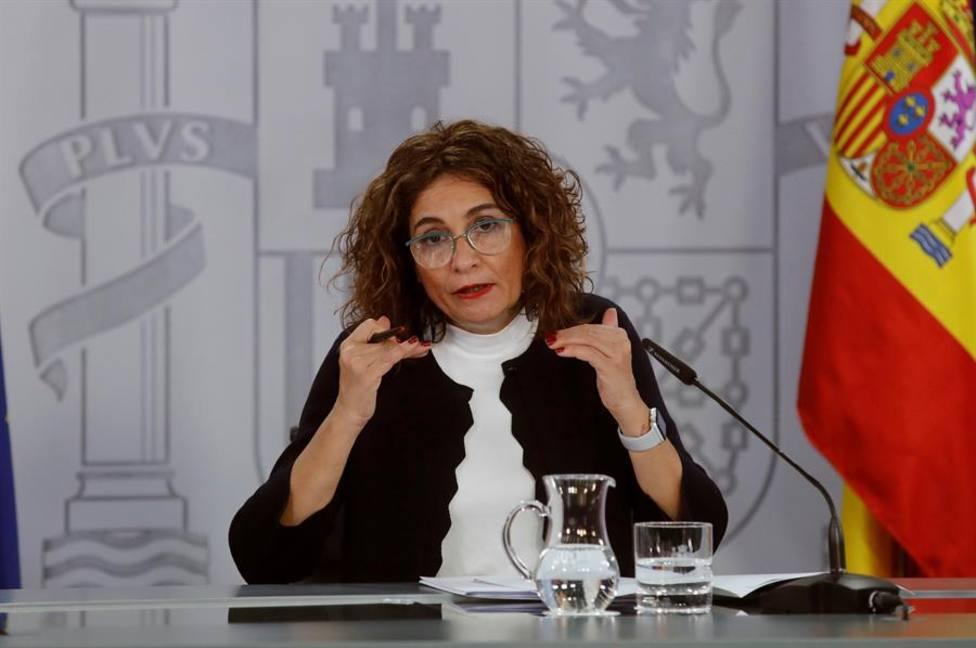 La ministra de Hacienda y ministra Portavoz María Jesús Montero