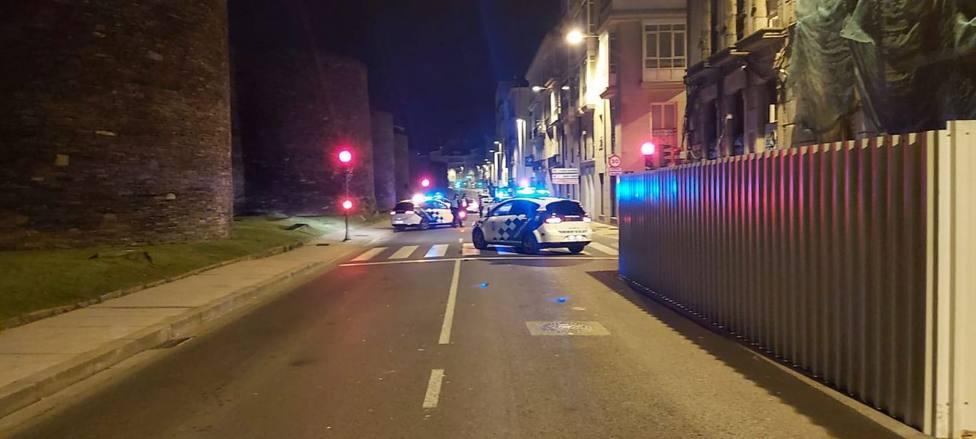 Control nocturno de la Policía Local de Lugo