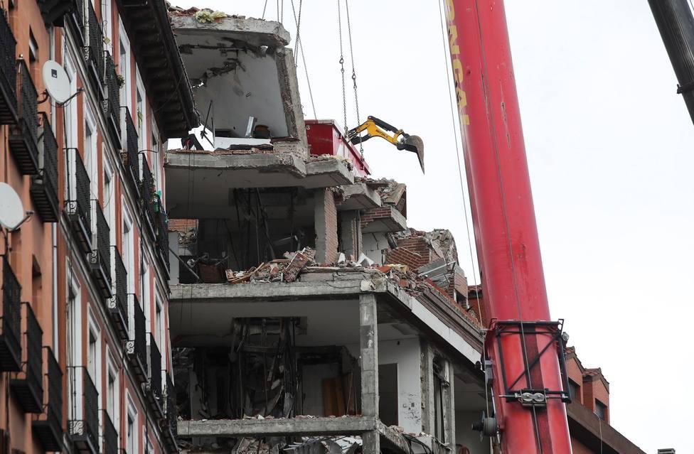 Estado en el que quedó edificio de la calle Toledo de Madrid tras la explosión