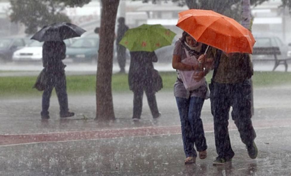Avisos por lluvias y tormentas activos en Extremadura. Foto: EFE