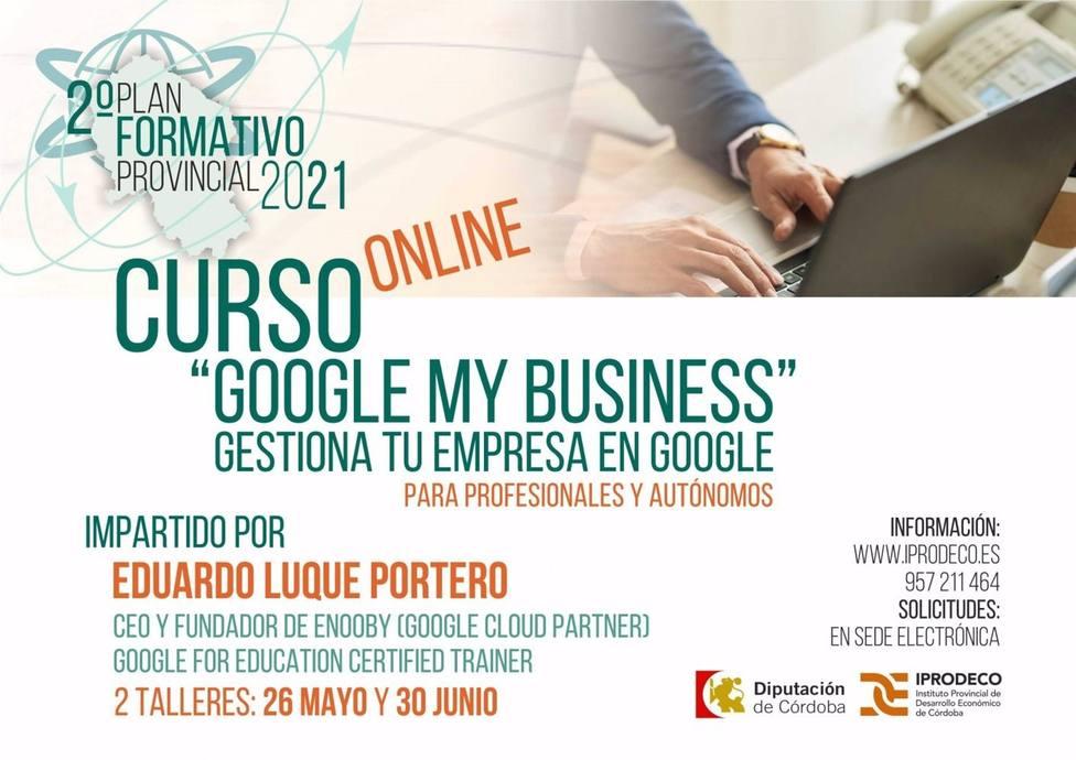 Iprodeco impulsa un curso virtual para profesionales y autónomos sobre la herramienta Google My Business