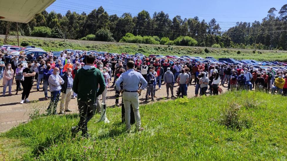 Asamblea de trabajadores de Alcoa San Cibrao
