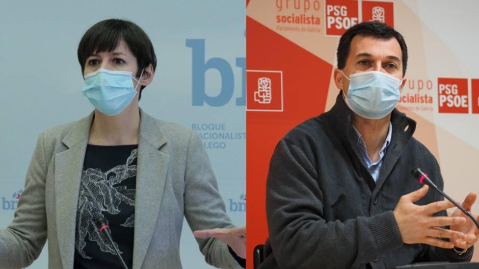 Ana Pontón y Gonzalo Caballero en ruedas de prensa - FOTO: Europa Press