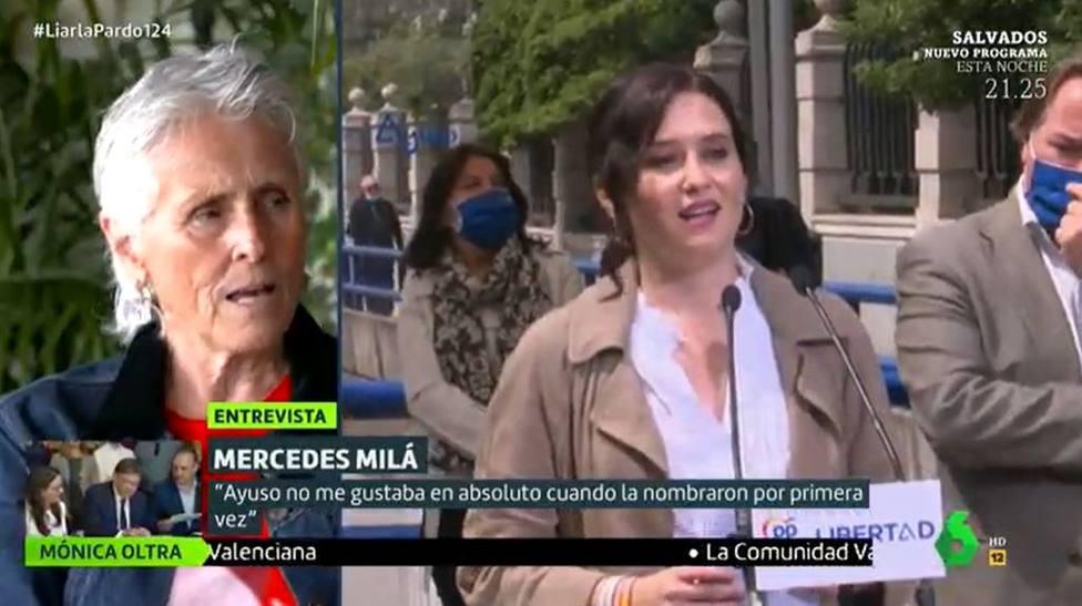 Mercedes Milá cambia su discurso en La Sexta para destacar una decisión tomada por Ayuso: Era posible