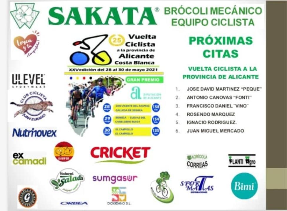 Arranca la Vuelta a Alicante con el Brócoli Ciclista en el pelotón