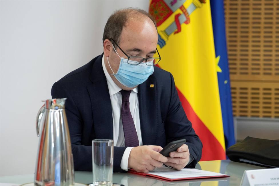 El titular de Política Territorial, Miquel Iceta