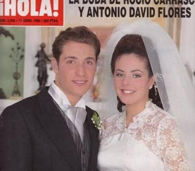 Boda de Rocío Carrasco Mohedano y Antonio David Flores