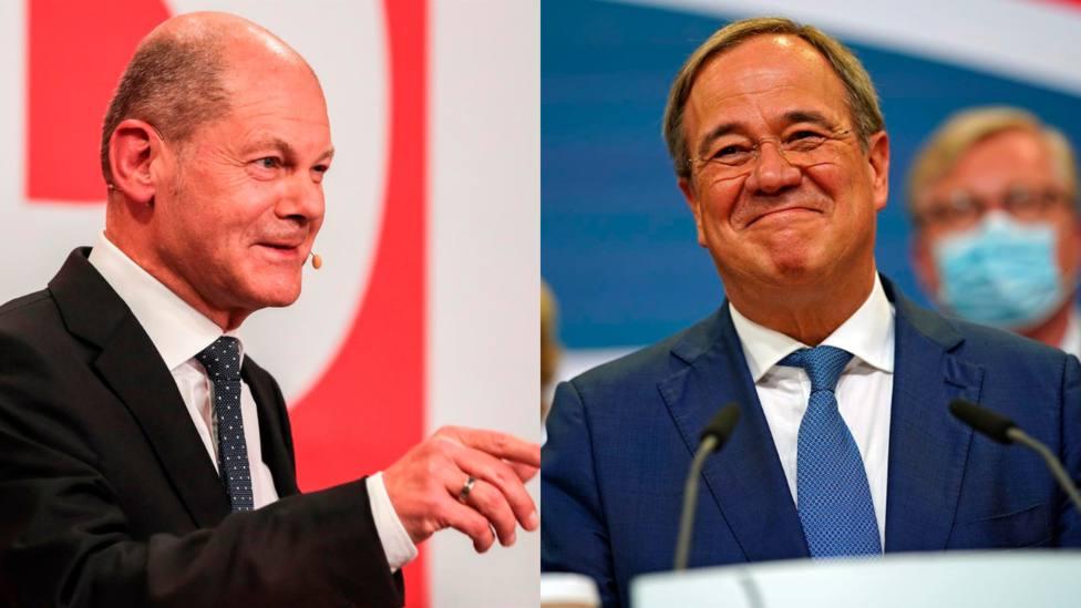 Scholz y Laschet intentarán formar gobierno tras los ajustados resultados de las elecciones alemanas