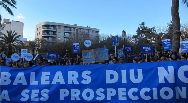 La plataforma Balears Diu No organiza este miércoles en Palma una recogida de alegaciones contra las prospecciones