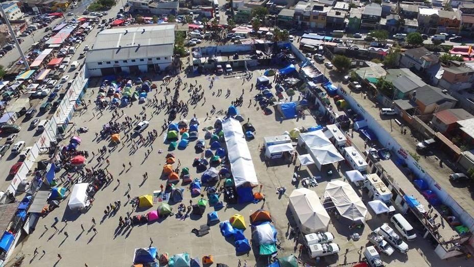 Más de 9.000 migrantes centroamericanos llegan a territorio mexicano