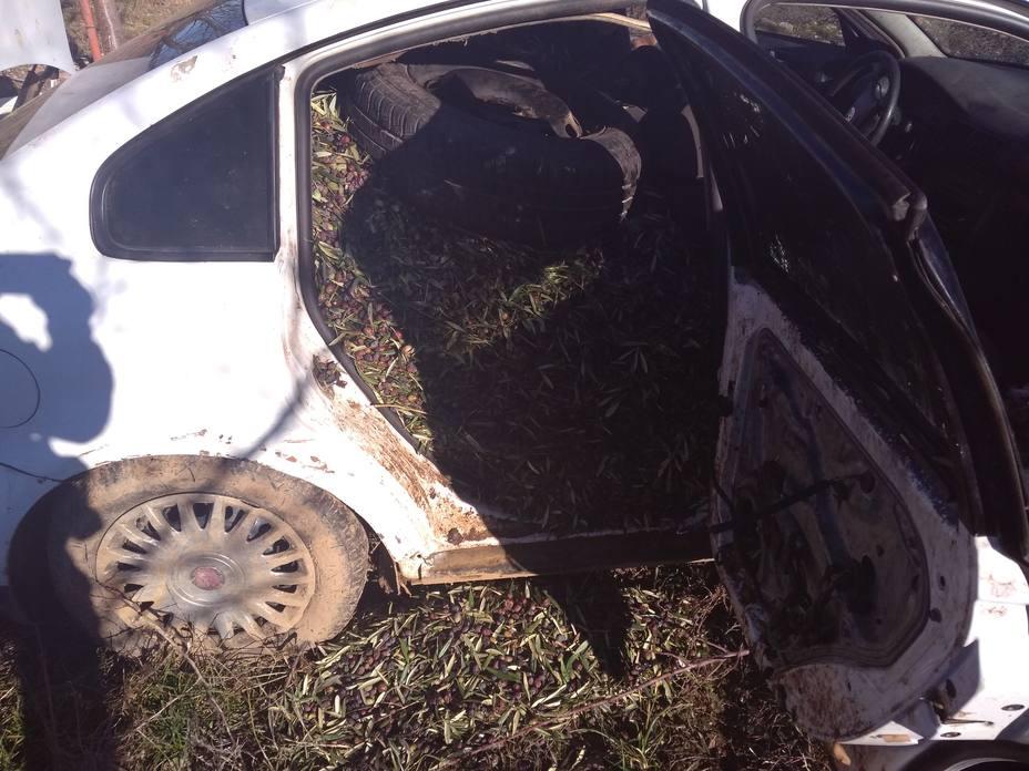 Interceptan en Badajoz un vehículo cargado con 800 kilos de aceitunas robadas tras una persecución