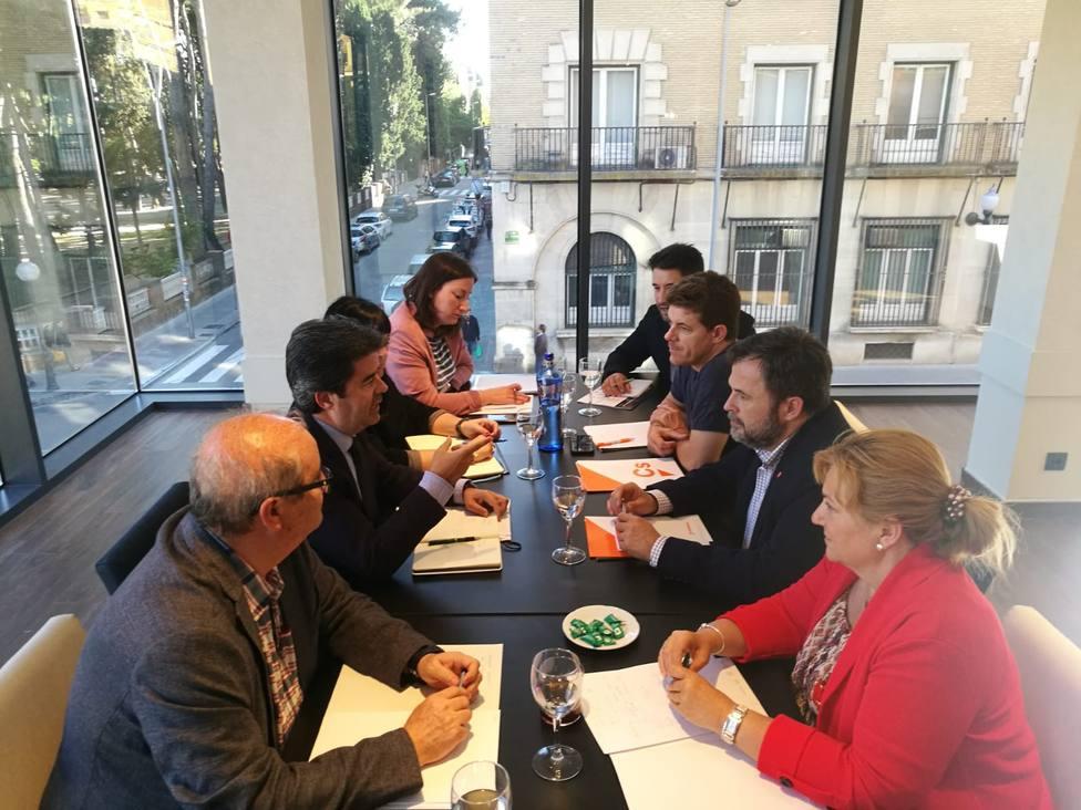Encuentro de Ciudadanos y PSOE mantenido esta tarde