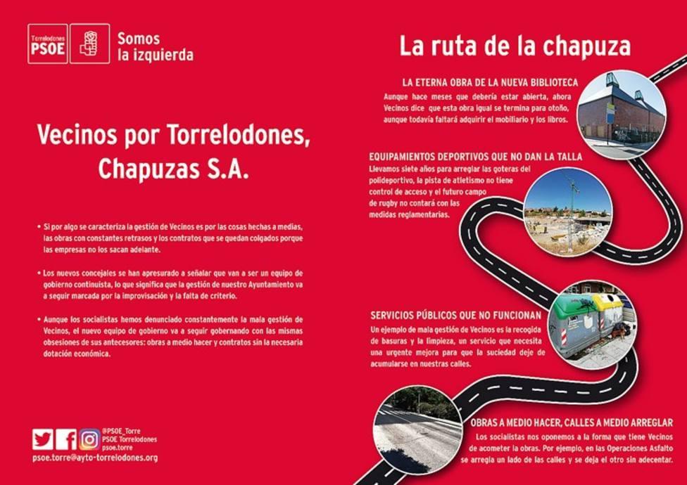 El PSOE repasa las actuaciones del Ejecutivo a través de lo que ha bautizado como la ruta de la chapuza