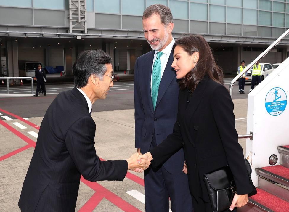 Los reyes de España llegan a Japón para la entronización de Naruhito