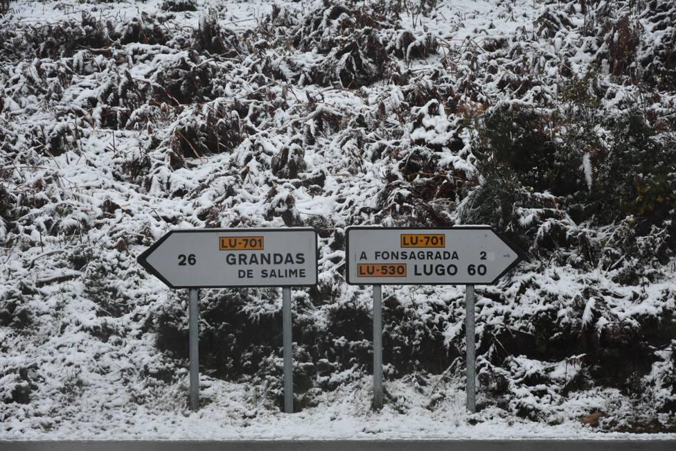 La primera nevada del año deja acumulaciones de 10 centímetros en Pedrafita