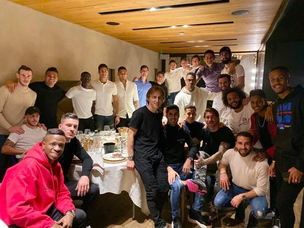 Cena de conjura de la plantilla del Real Madrid, con Bale