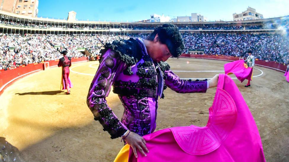 Andrés Roca Rey en una de sus actuaciones pasadas en la plaza de toros de Valencia
