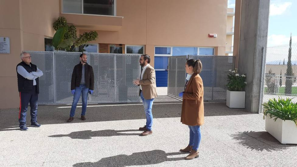 Se inspeccionan las instalaciones deportivas municipales puestas a disposición del Servicio Murciano de Salud