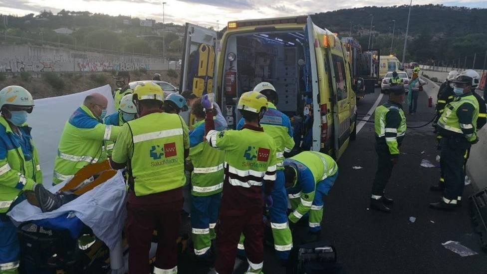 El accidente se produjo a la altura de Parquelagos