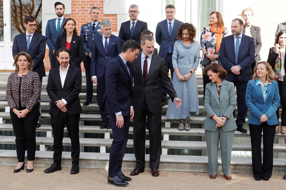 El Rey Felipe VI preside la reunión del Consejo de Seguridad Nacional en el Palacio de la Zarzuela
