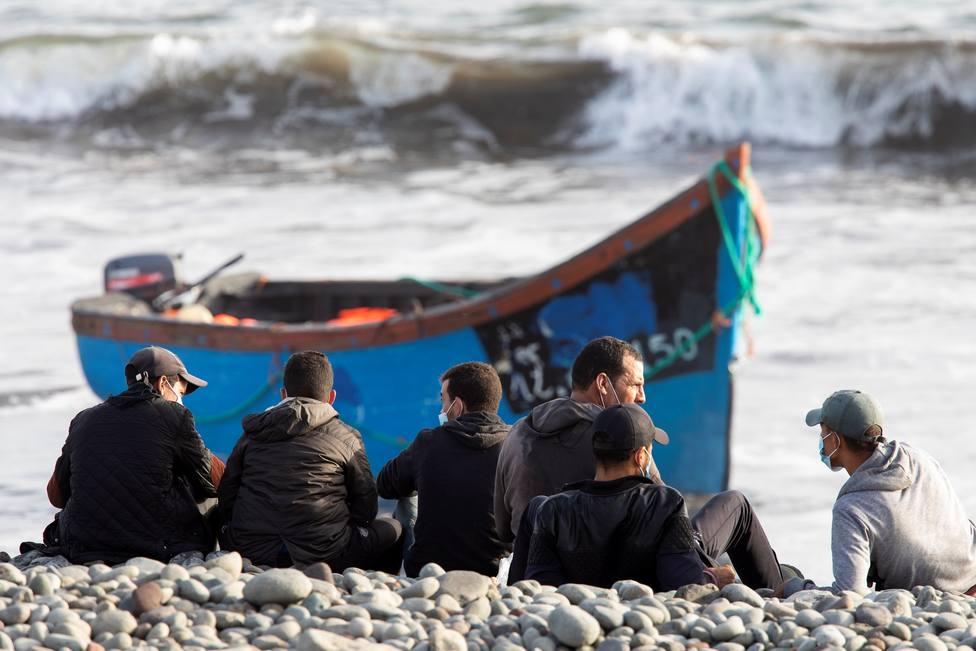 Llegada de una patera con 15 inmigrantes al sur de Gran Canaria