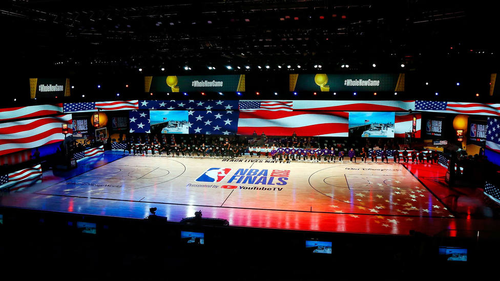 Imagen de la pista de Orlando donde concluyó la temporada 2019-2020 de la NBA. CORDONPRESS