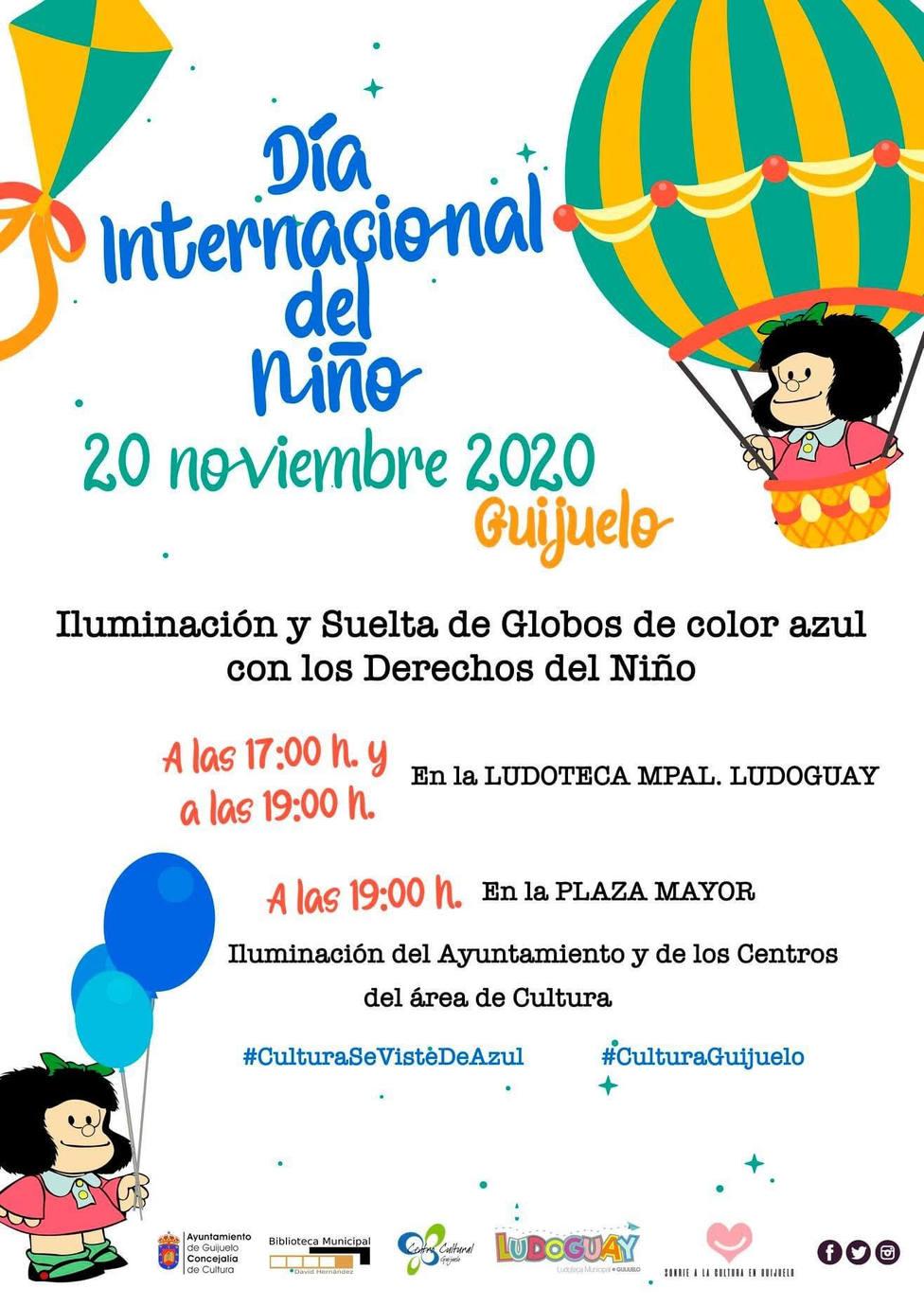 Cartel Guijuelo Día del Niño
