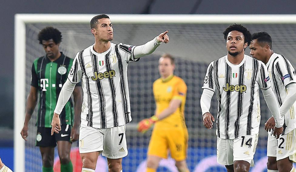 Cristiano Ronaldo, tras marcar el 1-1 (EFE).