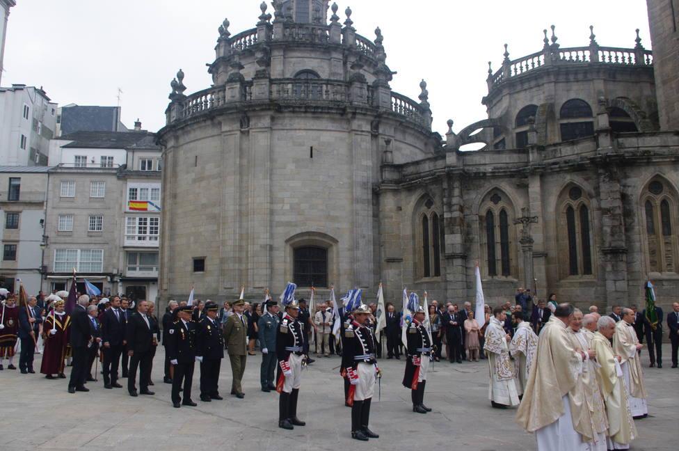 Plaza de Santa María el día de la Ofrenda del Antiguo Reino de Galicia