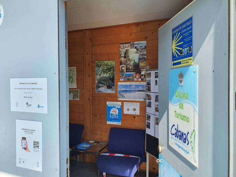 La oficina de turismo de Cabanas ofrecerá la credencial digital a los peregrinos. FOTO: Concello Cabanas