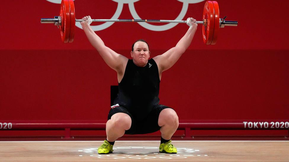La neozelandesa Laurel Hubbard, durante los Juegos Olímpicos de Tokio. CORDONPRESS